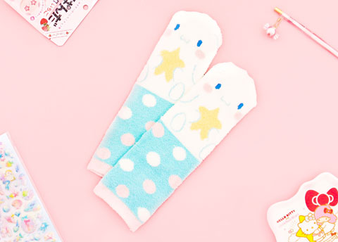 Fluffy Sanrio Characters Socks