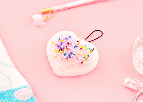 Sprinkle Heart Squishy Charm