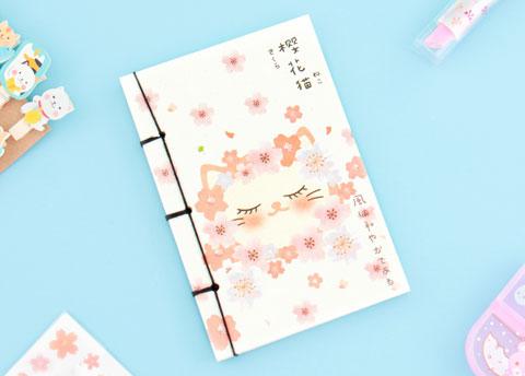 Sakura Neko Notebook