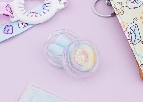 Pastel Seashell Ear Plugs & Case