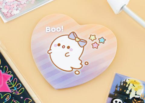 Kawaii Box Cute Ghost Heart Shaped Pin