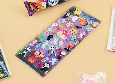Kawaii Halloween Party Stickers