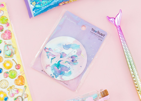 Unicorn Heroine Pocket Mirror
