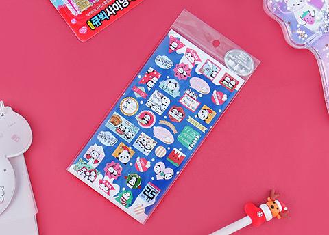Xmas Panda Stickers
