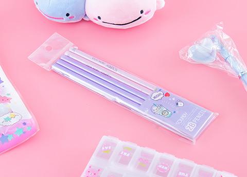 Metallic Pink & Purple Pencil Set