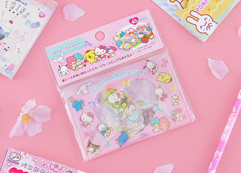 Sanrio Characters Glittery Flake Stickers