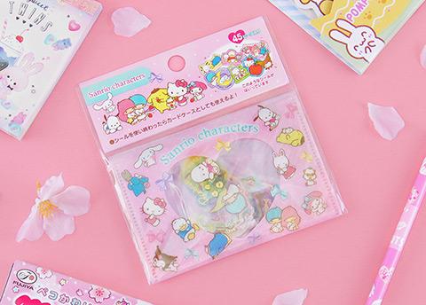 Sanrio Characters Glittery Flake Stickers