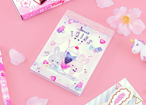 Sparkly Kawaii Notepad