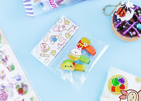 Decora Kei Snack Hair Clip Set