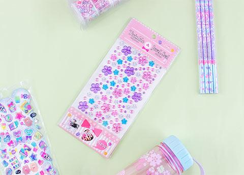 Twinkling Blooms Jewel Seal Stickers