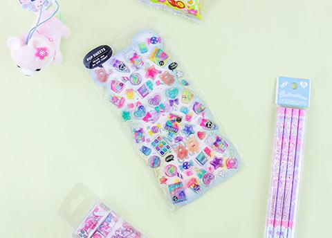 Sweet Adventure Sparkly Stickers
