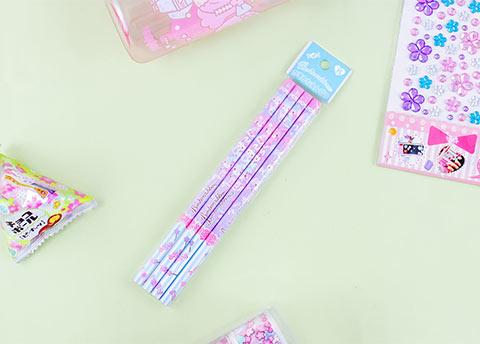 Cheerful Bonbonribbon Pencil Set