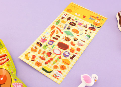 Bento Box Puffy Stickers