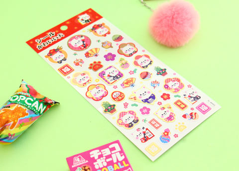 Japanese Traditions Stickers Sheet