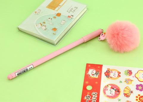 Fluffy Flamingo Ink Pen