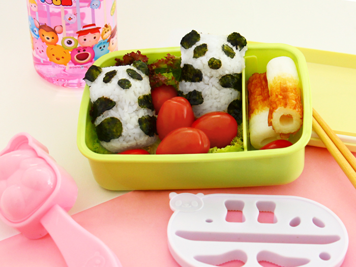 Panda Bento Rice Mold Tutorial
