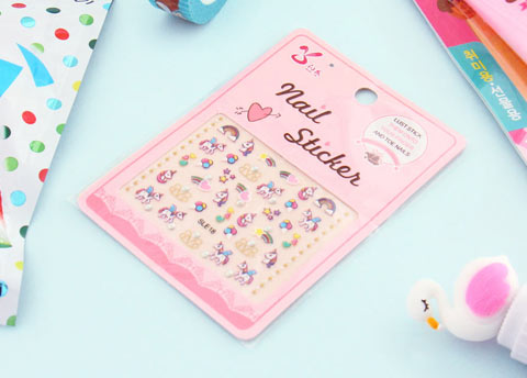 Kawaii Unicorn Nail Stickers