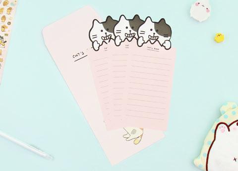 Kawaii Neko Letter Set