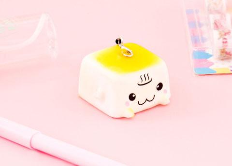 Squishy Tofu Charm