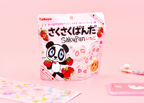 Sakupan Panda Strawberry Chocolate Biscuits
