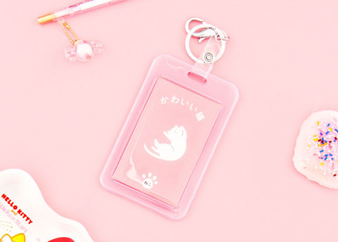 Kawaii Neko Travel Tag Case