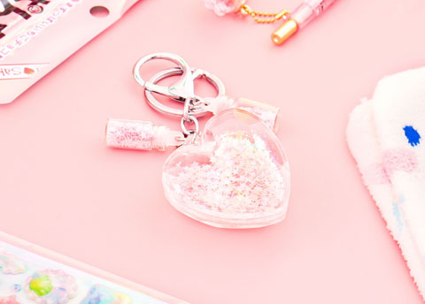 Heart Shaped Fantasy Keychain