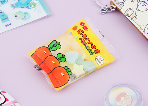 Carrot Candy Erasers