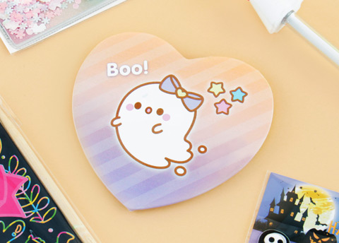Kawaii Box Cute Ghost Heart Shaped Pin