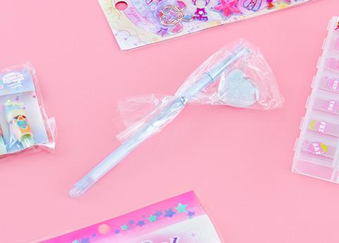Shimmery Heart Charm Pen