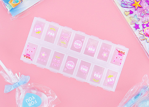 Kawaii Daily Pill Organizer