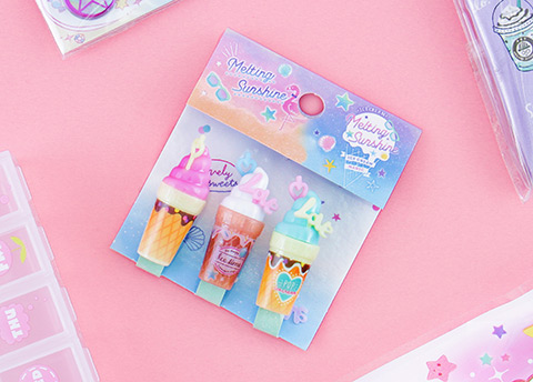 Sweet Drinks Pencil Cap Set