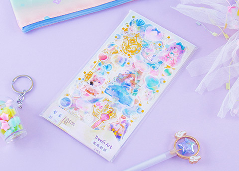 Shiny Galaxy & Magical Girl Washi Stickers
