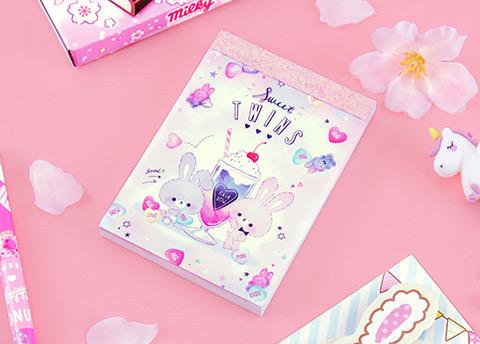 Sparkly Kawaii Notepad