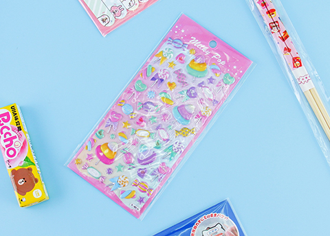Milky Pop Kawaii Puffy Stickers