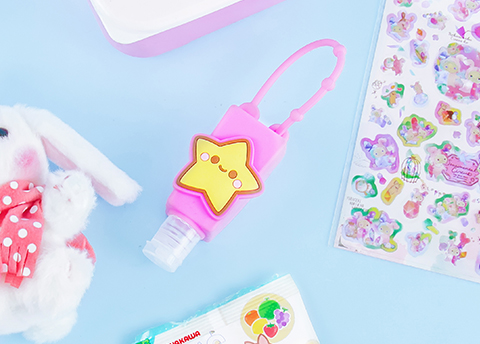 Happy Star Hand Sanitizer Bottle