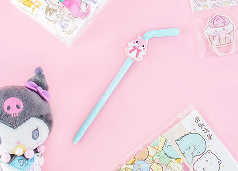 Amuse Character Straw Pen
