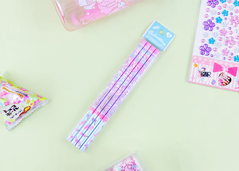 Cheerful Bonbonribbon Pencil Set