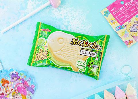 Puku Puku Taiyaki Melon Cream Soda Wafer